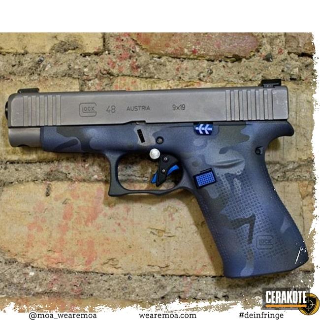 Cerakoted: S.H.O.T,MultiCam,NORTHERN LIGHTS H-315,48,Titanium H-170,Glock,POLAR BLUE H-326