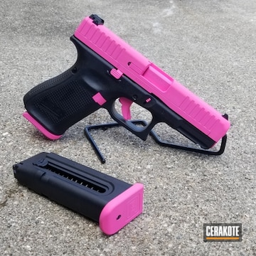 Glock G44 Coated Using Prison Pink