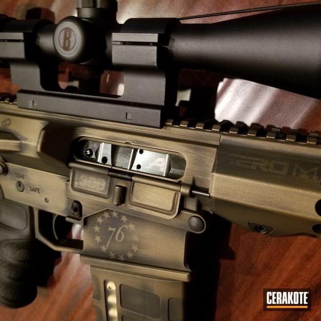 Cerakoted: S.H.O.T,Aero Precision,Graphite Black C-102,American,Distressed,AR-10,Burnt Bronze C-148,Tactical Rifle,.308