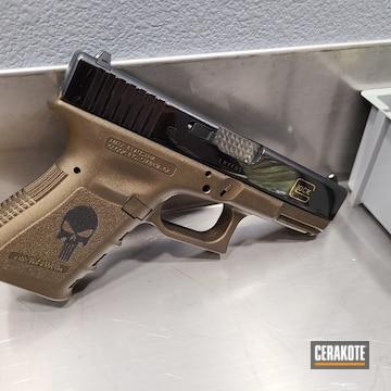 Cerakoted Punisher Themed Glock In H-148