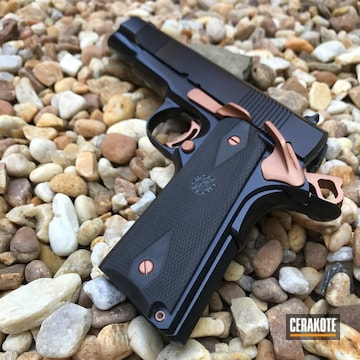Cerakoted Two Toned 1911 In H-347 And H-109
