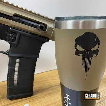 Cerakoted Matching Rifle And Tumbler In H-265