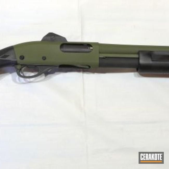 Cerakoted: S.H.O.T,Shotgun,Sniper Green H-229,Tactical,Graphite Black H-146,12 Gauge,870