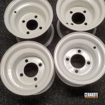 Cerakoted Golf Cart Rims In H-297