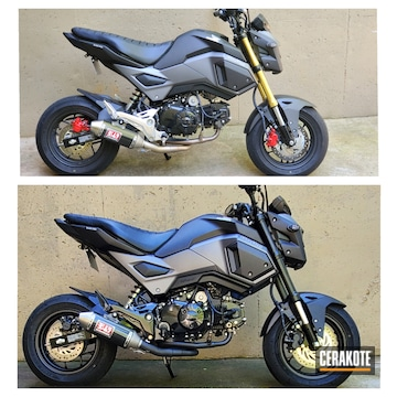 Cerakoted Honda Grom Parts In H-109 And V-168