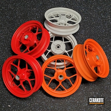 Cerakoted Honda Grom Wheels