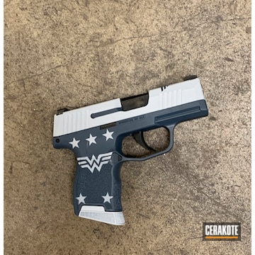 Cerakoted Wonder Woman Themed Sig P365 In H-245 And H-213