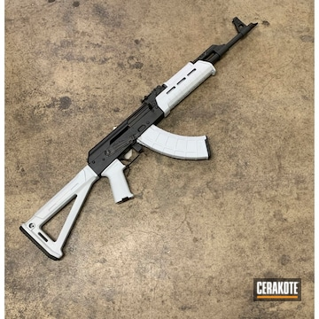 Cerakoted Two Toned Ak Rifle In H-213