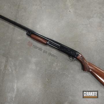 Cerakoted Ithaca Shotgun In E-110