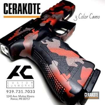 Cerakoted 3 Color Camo Finish In H-146, H-167 And H-227