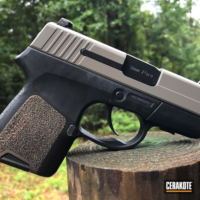 Cerakoted Sig Sauer P290rs In E-150, E-100 And H-294