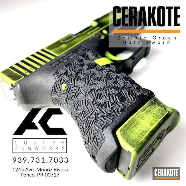 Cerakoted: S.H.O.T,.45,Battleworn,Spartan,Graphite Black H-146,Glock,30S,Slides