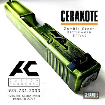 Cerakoted Custom Glock .45 Slide In H-146