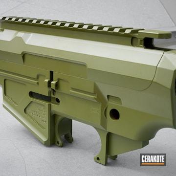 Upper And Hand Guard Coated Using Noveske Bazooka Green