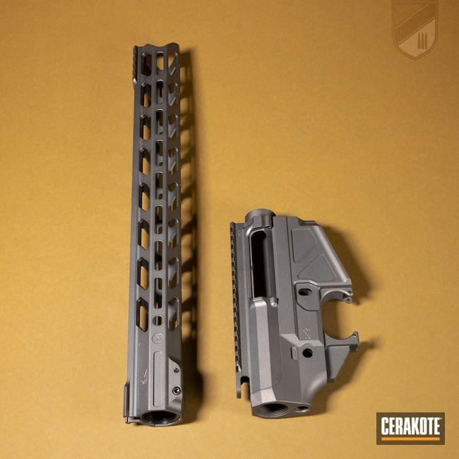 Cerakoted: S.H.O.T,Maple Ridge Armouries,SLR,Handguard,Tungsten H-237,.223,Upper,Maccabee Defense,AR-15