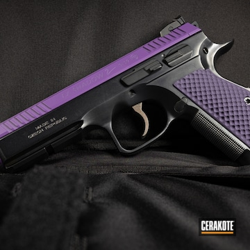 Cz Shadow Coated Using Bright Purple