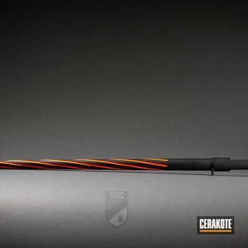 Remington Fluted Barrel Coated Using Hunter Orange And Graphite Black