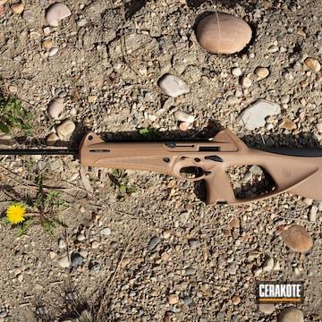 Cerakoted Mud Brown And Graphite Black Beretta Rifle