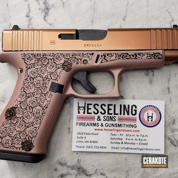Cerakoted Rose Gold Glock 48| Cerakote