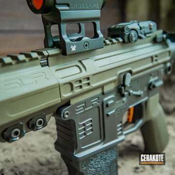 M4 Airsoft Rifle Coated Using Armor Black And Mil Spec O.d. Green