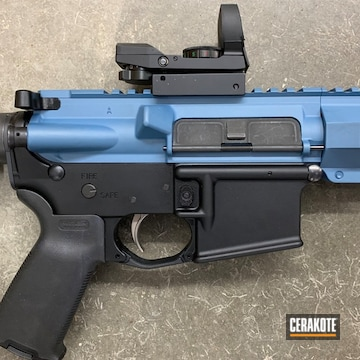 Ar-15 Hand Guard And Upper Receiver Coated Using Hidden White And Blue Titanium