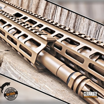 Ar-15 Hand Guard And Barrel Coated Using M17 Coyote Tan