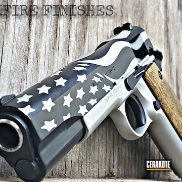 Tisas 1911 Using Satin Aluminum And Graphite Black