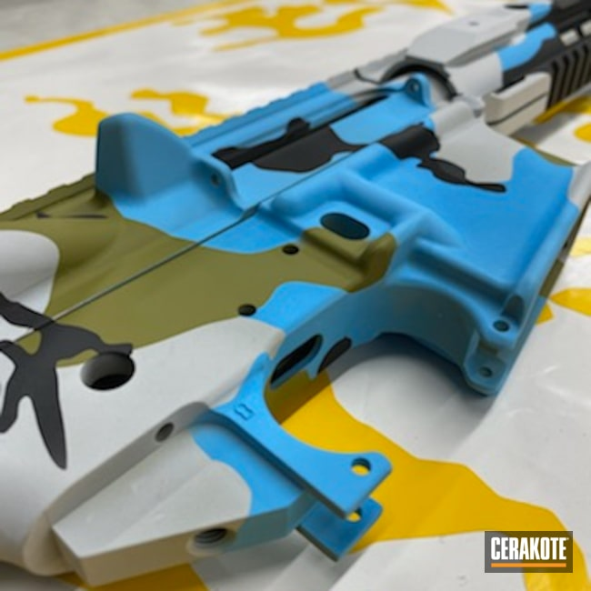 Cerakoted: S.H.O.T,Custom Camo Pattern,Lower,MULTICAM® LIGHT GREEN H-340,Upper / Lower / Handguard,Anderson,Custom Camo,5.56,AR Build,Winter Camo,Hidden White H-242,Upper / Lower,Receiver,MultiCam,Graphite Black H-146,Handguard,Winter Multicam,Camo,BLUE RASPBERRY H-329,Upper,AR Rifle,Buffer Tube,AR-15