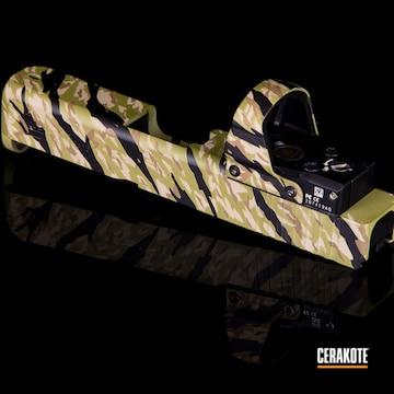 Glock Slide Cerakoted Using Noveske Bazooka Green And Graphite Black
