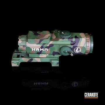 Multicam Leupold Hamr Scope Cerakoted Using Graphite Black