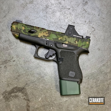 Glock 48 Cerakoted Using Multicam® Bright Green