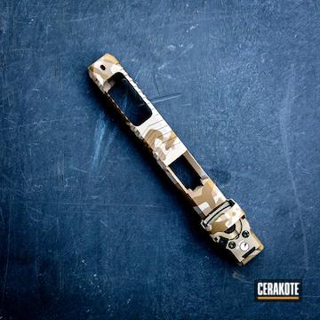 Desert Camo Theme Glock Slide Cerakoted Using Magpul® Flat Dark Earth