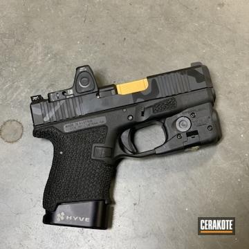 Multicam Glock 26 Cerakoted Using Socom Blue, Sniper Grey And Graphite Black