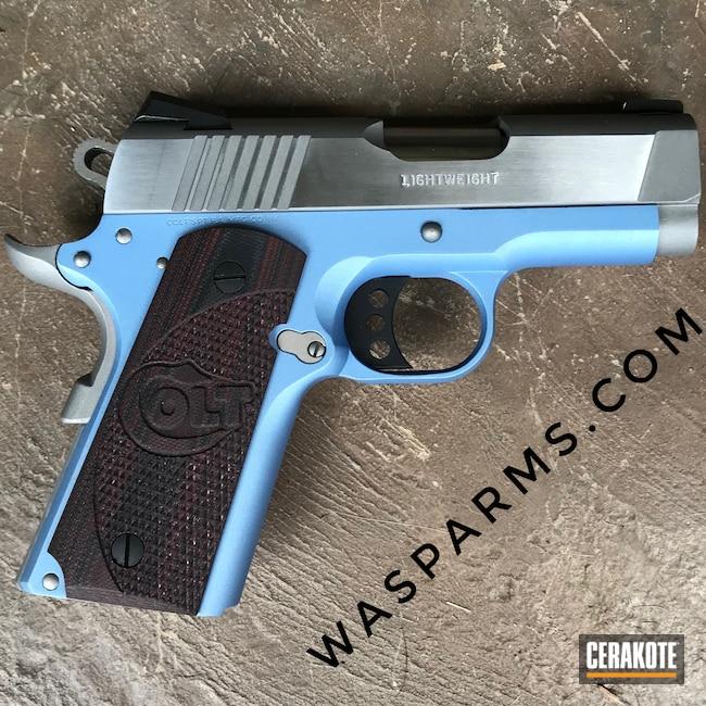 Cerakoted: S.H.O.T,.45,Defender,Colt,Restoration,Pistol,1911,POLAR BLUE H-326