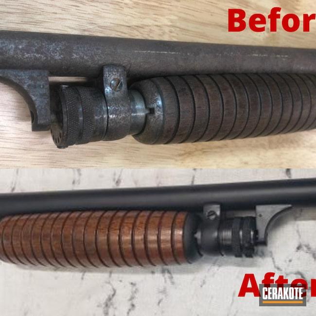 Cerakoted: Midnight Blue H-238,Ithaca,Restoration,20 Gauge,Grandpas Gun