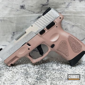 Taurus G2c Cerakoted Using Satin Aluminum And Rose Gold