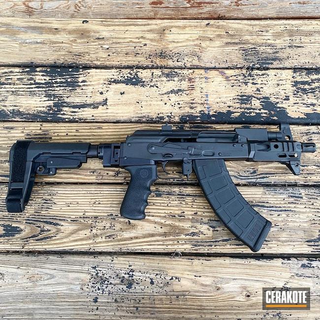 Cerakoted: S.H.O.T,9mm,Graphite Black H-146,Pistol,AK-47,Glock,7.62x39,Micro Draco,Draco,AK,AK Pistol