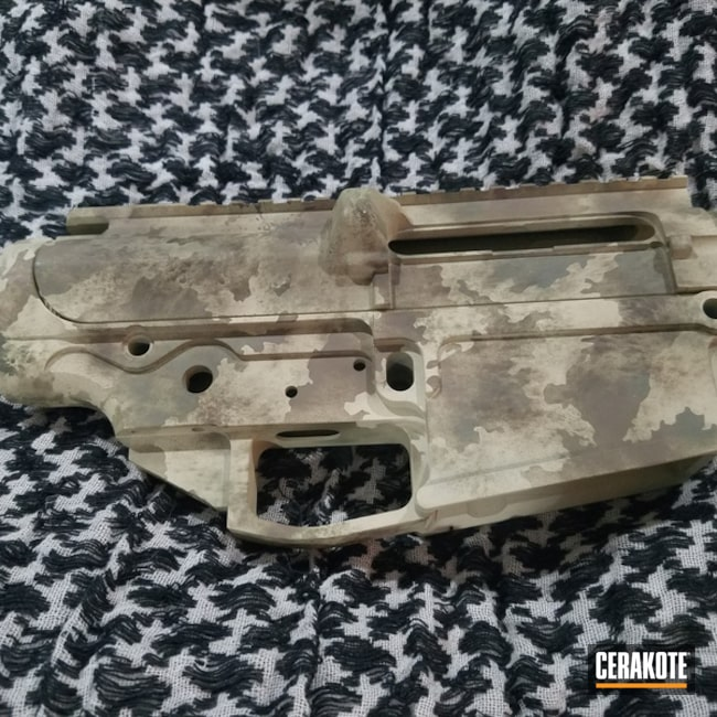 Desert Camo Ar Upper Cerakoted Using Forest Green, Patriot Brown And Benelli® Sand