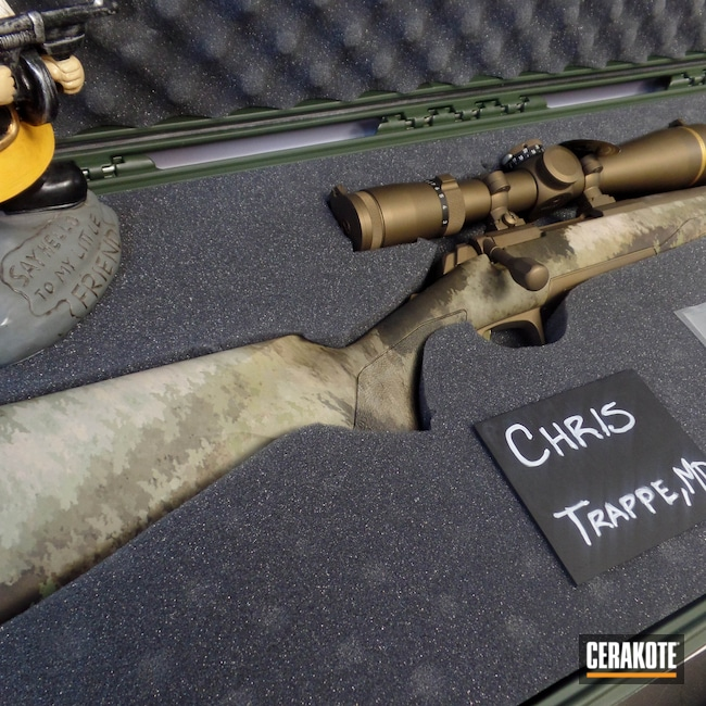 Cerakoted: S.H.O.T,Rifle,Custom Package,Bolt Action,Hells Canyon,Scope,Custom,X-Bolt,Optic,Burnt Bronze H-148,Browning,Long Range,Cerakote That S**t,VX-5HD,Leupold,Custom Build