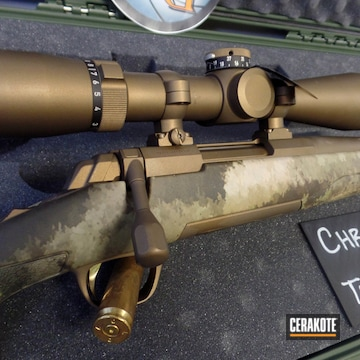 Custom Leupold Scope Cerakoted Using Burnt Bronze