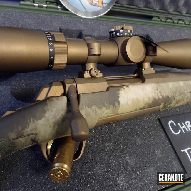 Cerakoted: S.H.O.T,Rifle,Custom Package,Bolt Action,Hells Canyon,Scope,Custom,X-Bolt,Optic,Burnt Bronze H-148,Browning,Long Range,Cerakote That S**t,VX-5HD,Leupold,Custom Build