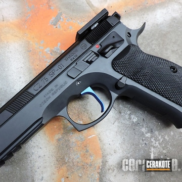 Cz 75 Shadow Cerakoted Using Sniper Grey, Graphite Black And Matte Armor Clear