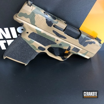 Springfield Armory Hellcat Cerakoted Using Barrett® Brown, Noveske Bazooka Green And Graphite Black