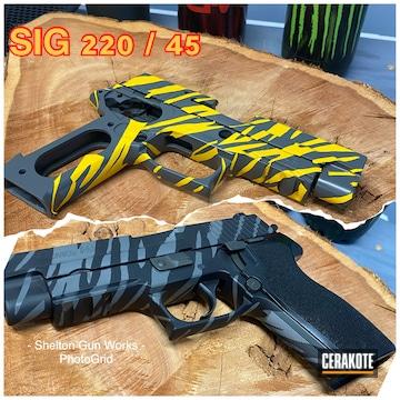 Sig P220 Cerakoted Using Armor Black And Concrete
