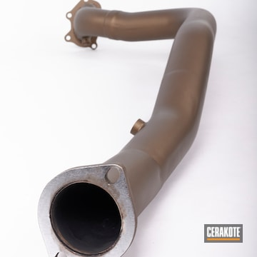 Exhaust Pipe Coated Using Burnt Bronze