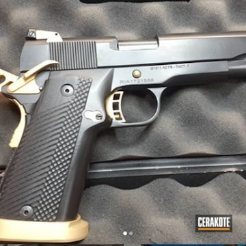 1911 Cerakoted Using Armor Black And Gold