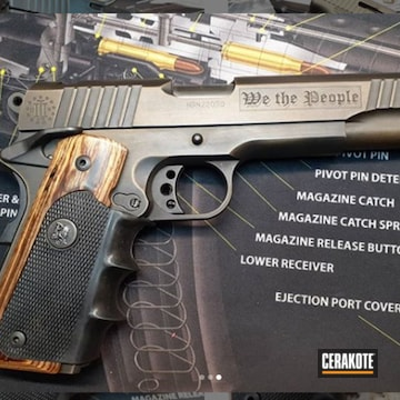 1911 Cerakoted Using Armor Black And Burnt Bronze