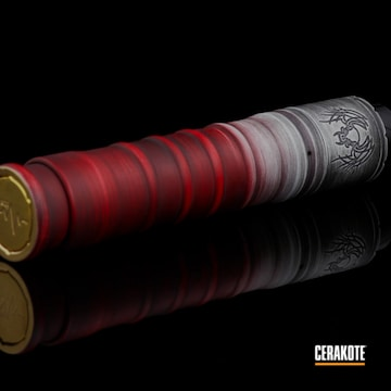Vape Mod Cerakoted Using Snow White, Graphite Black And Smith & Wesson® Red