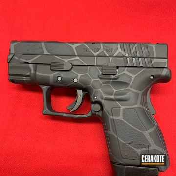 Springfield Xd 40 Cerakoted Using Magpul® Stealth Grey, Armor Black And Sniper Grey