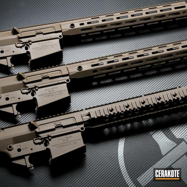 Cerakoted: S.H.O.T,KAC,SR-25,Tactical Rifle,Knight's Armament,Stoner Rifle,Flat Dark Earth H-265